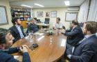 Soria con autoridades de Telefe